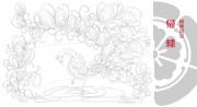 胡蝶綺 ~若き信長~  線画設定:帰蝶の着物柄