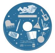 アニメ「ヘタリア World★Stars」Blu-ray BOXに収録されるオリジナルサウンドトラックCDレーベル